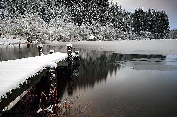 Loch Ard Winter Scene Print by Grant Glendinning