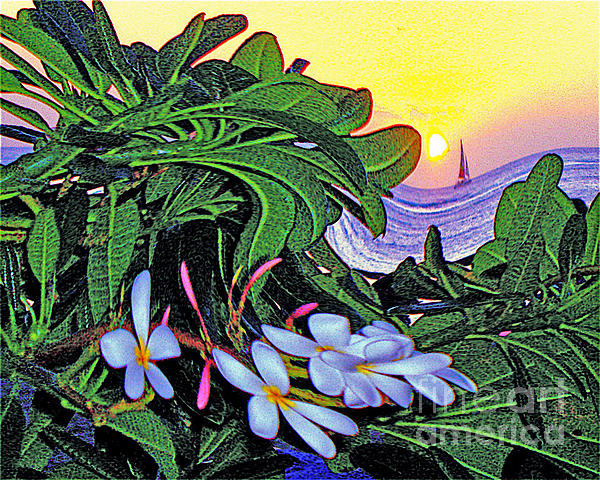 2 Mai Tais Waikiki Hawaii Print by Jerome Stumphauzer