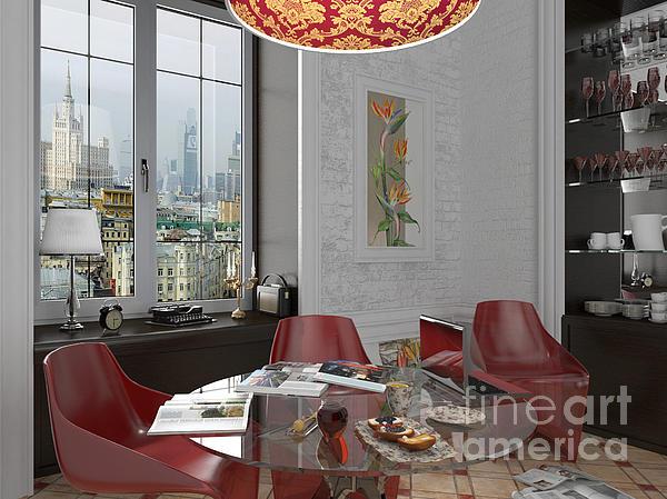 My Art In The Interior Decoration - Elena Yakubovich Print by Elena Yakubovich