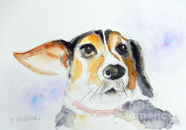 My Dog Print by Yoshiko Mishina