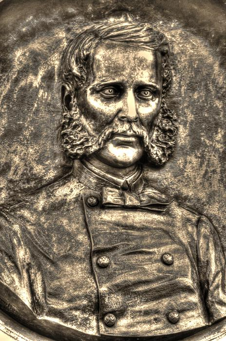 New York At Gettysburg - 140th Ny Volunteer Infantry Little Round Top Colonel Patrick O' Rorke Print by Michael Mazaika