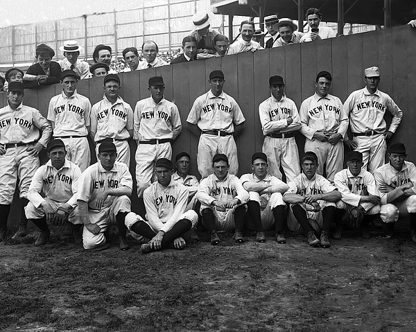 New York Giants Team  Print by Retro Images Archive