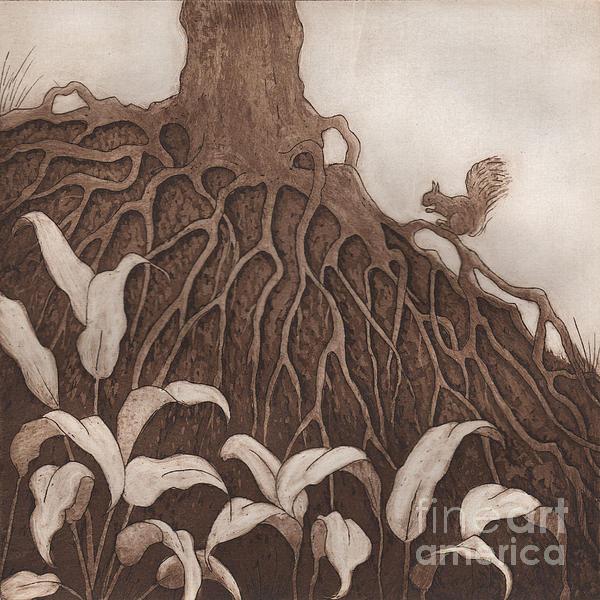 Nut Maze Print by Suzette Broad