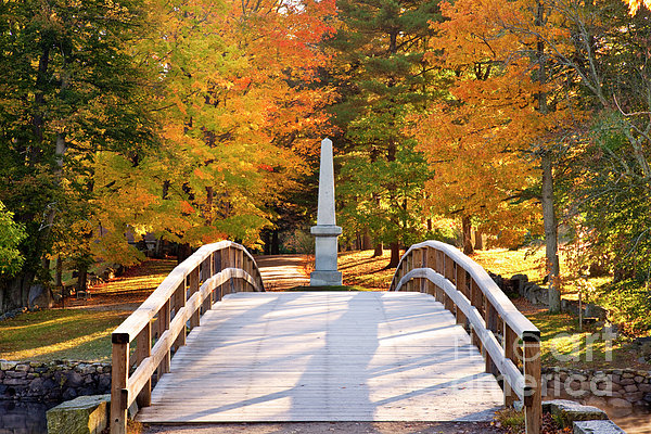 Old North Bridge Concord Print by Brian Jannsen