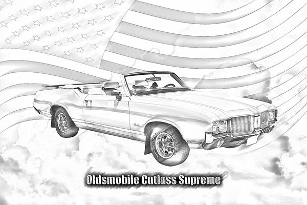 Oldsmobile Cutlass Supreme Muscle Car By Keith Webber Jr