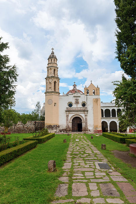 Oxtotipac Church And Monastery Mexico Print by Marek Poplawski
