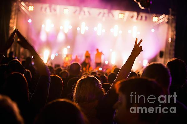 People On Music Concert Print by Michal Bednarek