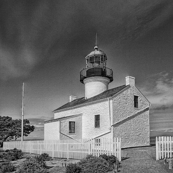 Point Loma Lighthouse Print by Hugh Smith