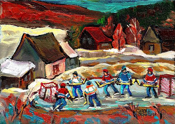 Pond Hockey 3 Print by Carole Spandau