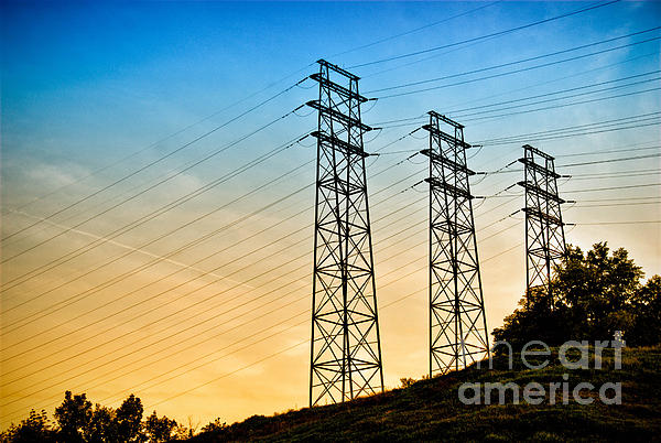 Power Lines Print by Amy Cicconi