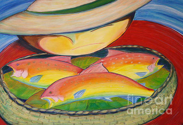 Rainbow Fish Print by Teresa Hutto
