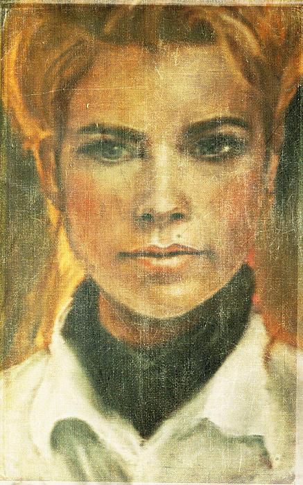 Self Portrait Print by Janet Kearns