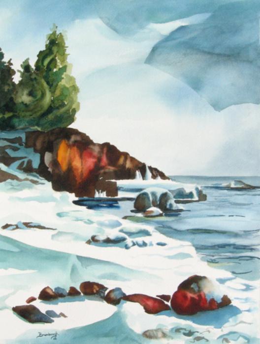 Splitrock Cove Print by Steve Brumbaugh