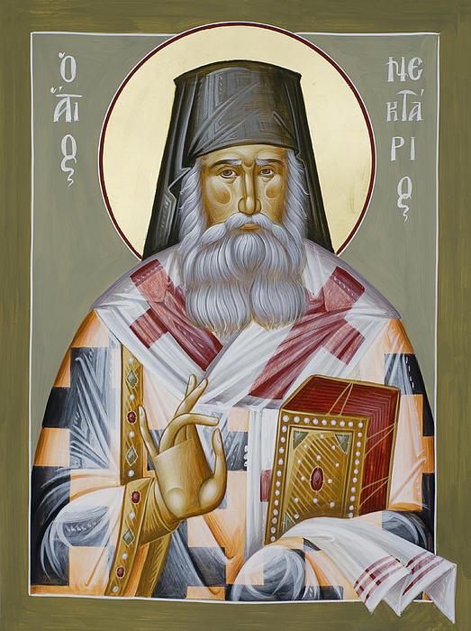 St Nektarios Of Aegina Print by Julia Bridget Hayes