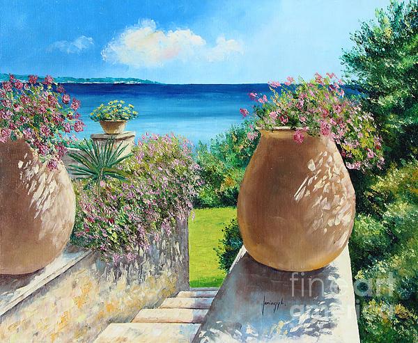 Sunny Terrace Print by Jean-Marc Janiaczyk