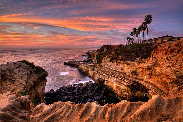 Sunset Cliffs Print by Peter Tellone