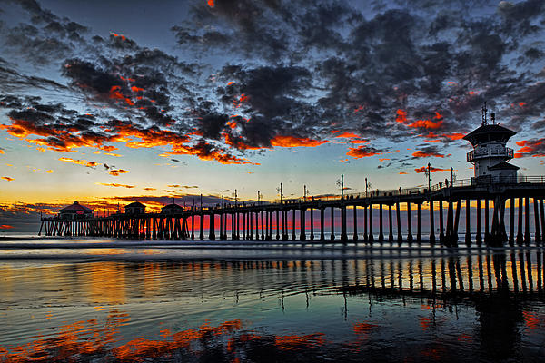 Sunset Print by Peter Dang