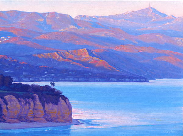 Sunset Time Malibu Print by Elena Roche