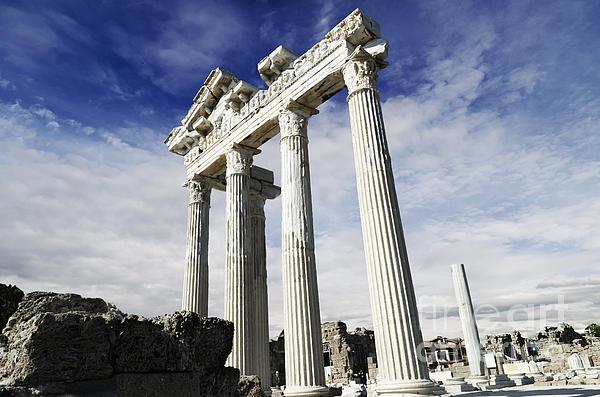 Temple Of Apollo In Side Print by Jelena Jovanovic