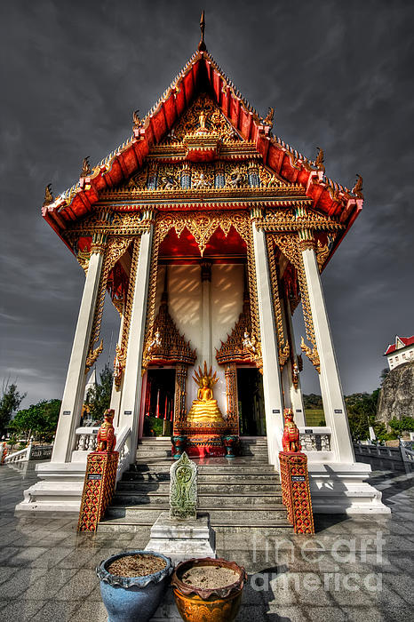 Thai Temple Print by Adrian Evans