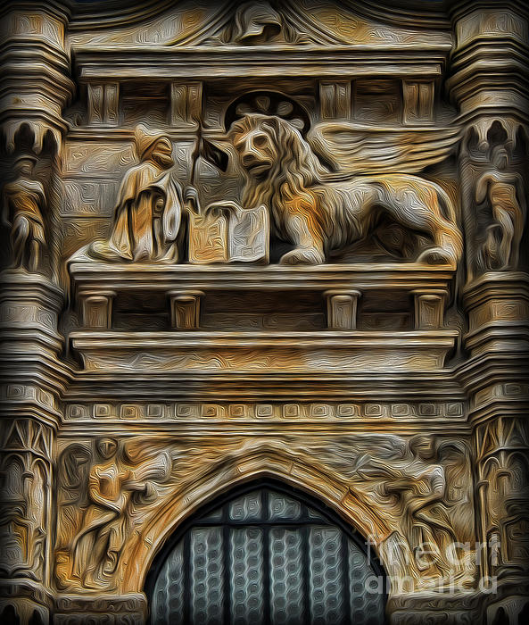 The Lion Of Venice Print by Lee Dos Santos