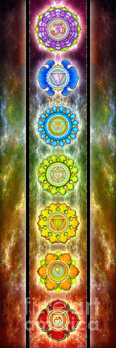 The Seven Chakras Series 2012 Print by Dirk Czarnota