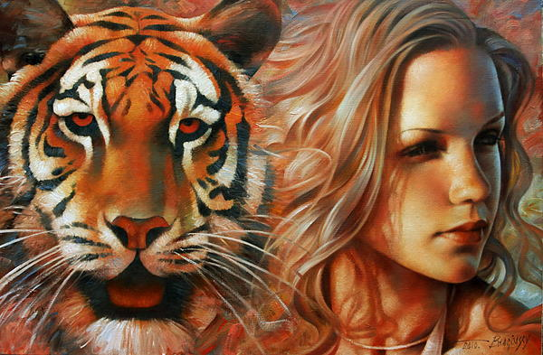 Tiger Print by Arthur Braginsky