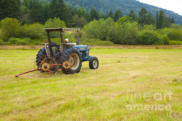 Tractor Print by Graham Foulkes