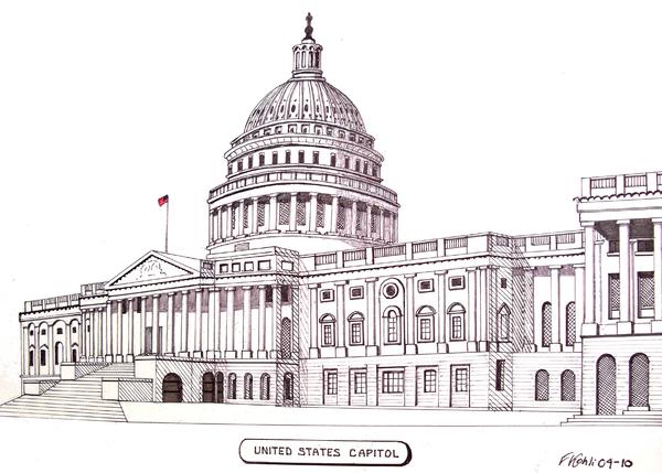 United States Capitol Print by Frederic Kohli