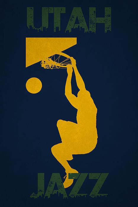 Utah Jazz Print by Joe Hamilton
