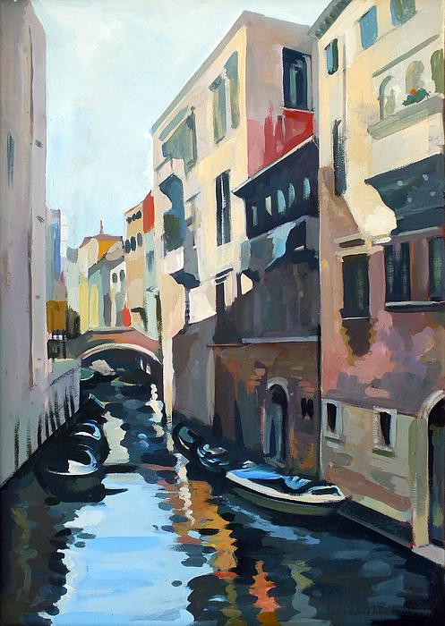 Venetian Channel Print by Filip Mihail