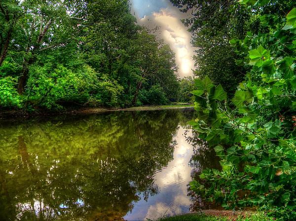 Vibrant River Print by Jacob King