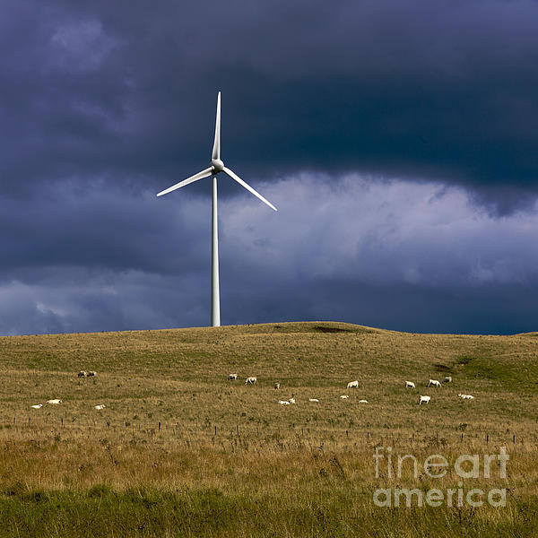 Wind Turbine Print by Bernard Jaubert