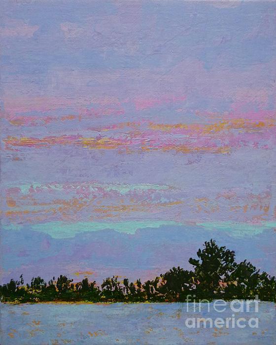 Winter Sunset Print by Gail Kent