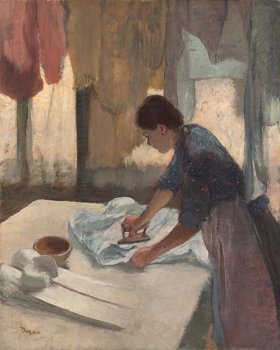 Woman Ironing Print by Edgar Degas