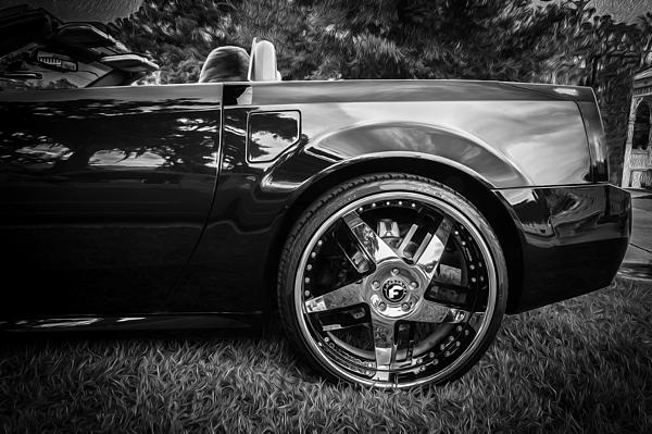 similiar xlr cadillac on rims keywords 2004 cadillac xlr forgiato wheels bw print by rich franco