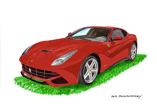 2012 F12 Ferrari Berlinetta Gt Print by Jack Pumphrey