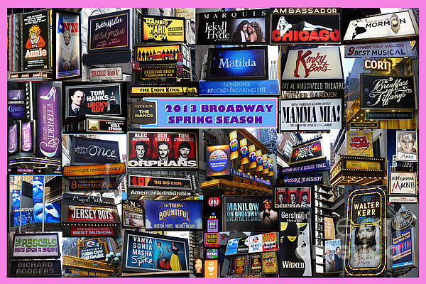 2013 Broadway Spring Collage Print by Steven Spak