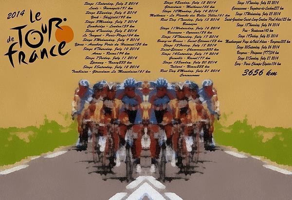 2014 Tour De France Print by Dan Sproul