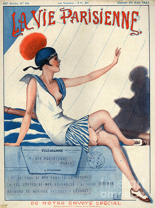 1920s france la vie parisienne magazine print by the advertising archives - La parisienne journal ...
