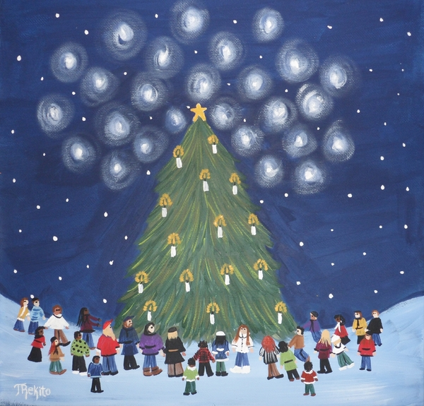 26 Angels In Memory Of Sandy Hook Victims Print by Tammy Rekito