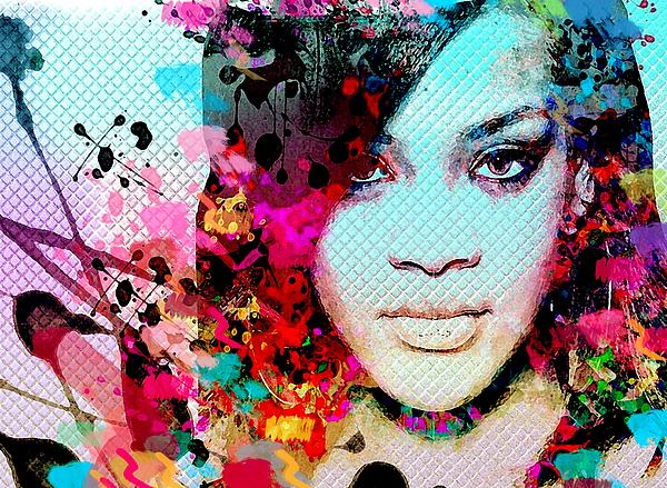 Rihanna Print by Bogdan Floridana Oana