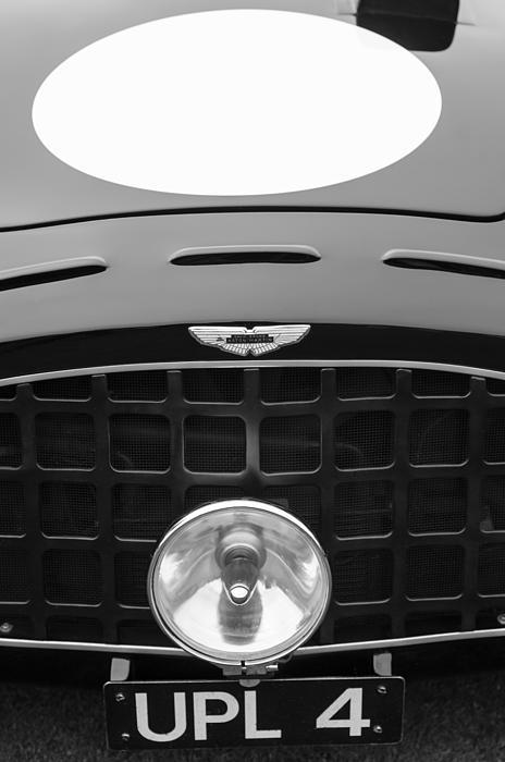 1952 Aston Martin Db3 Sports Hood Emblem Print by Jill Reger