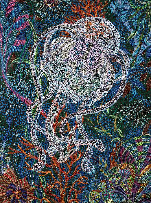 Aquatic Apparition  Print by Erika P Johnson