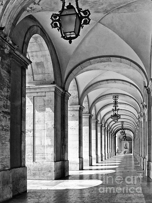 Arcades Of Lisbon Print by Jose Elias - Sofia Pereira