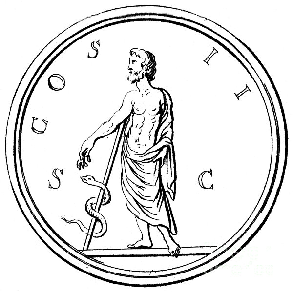 Asklepios Print by Granger