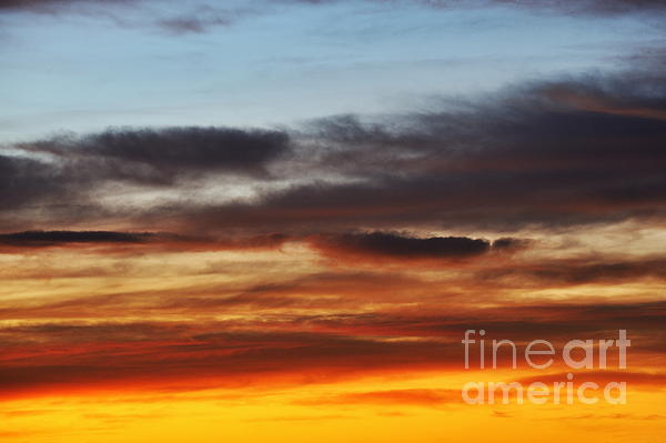 Cloudscape At Sunrise Print by Sami Sarkis