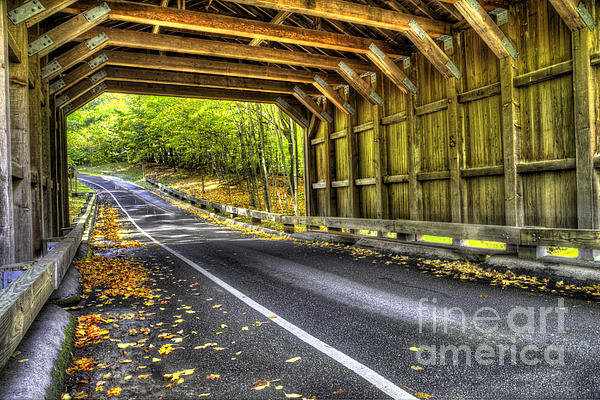 Covered Bridge At Sleeping Bear Dunes Print by Twenty Two North Photography