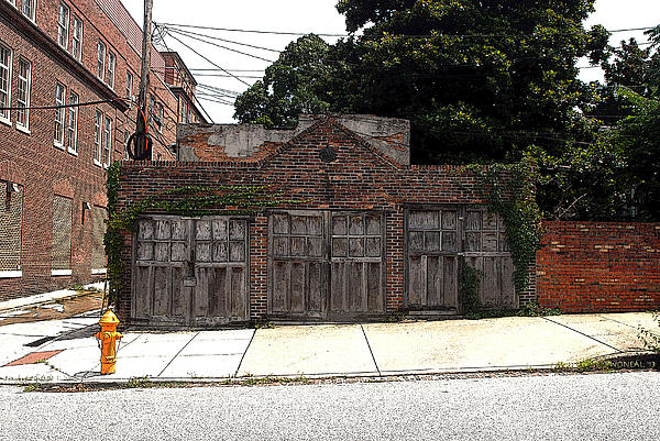 3 Door Carriage Garage Print by Walter Oliver Neal