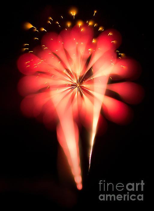 Fireworks Art Print by Benjamin Simeneta
